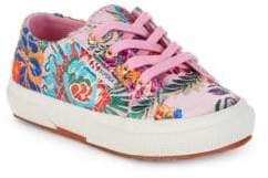 Superga Little Girl's & Girls Printed Lace-Up Sneakers
