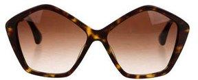 Miu Miu Tortoiseshell Logo Sunglasses