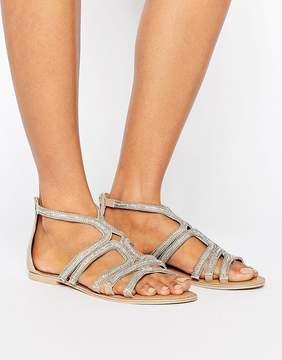 Faith Jiji Embellished Flat Sandals