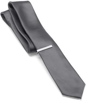 Apt. 9 Solid Skinny Tie with Tie Bar