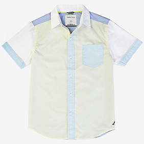 Nautica Little Boys' Contrast Block Short Sleeve Shirt (2T-7)