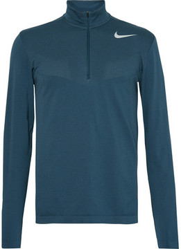 Nike Panelled Dri-Fit Mesh Half-Zip Golf Top