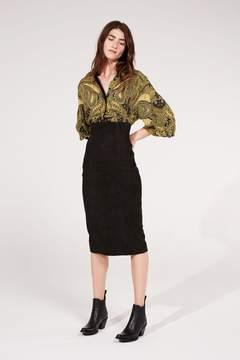 Amanda Wakeley   Black Nubuck Suede Skirt   M   Black