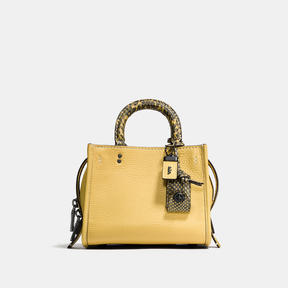COACH Coach Rogue 17 In Colorblock Leather With Snake Details - BLACK COPPER/SUNFLOWER - STYLE