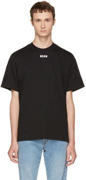 MSGM Black New Logo T-Shirt