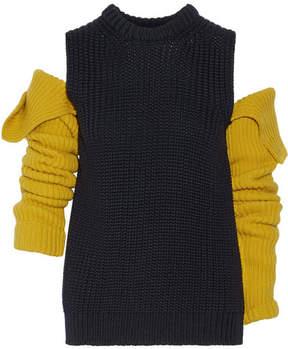 CALVIN KLEIN 205W39NYC - Cutout Wool Sweater - Midnight blue