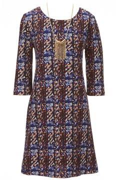 I.N. Girl Big Girls 7-16 3/4-Sleeve Plaid Dress