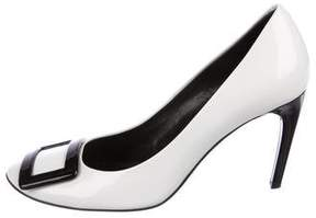 Roger Vivier Patent Leather Buckle-Accented Pumps