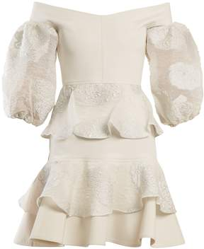 Emilio De La Morena Xaranna off-the-shoulder floral-brocade dress
