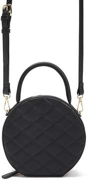 Forever 21 Quilted Faux Leather Circle Crossbody