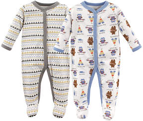 Luvable Friends Cotton Sleep and Play, 2 Pack - Newborn