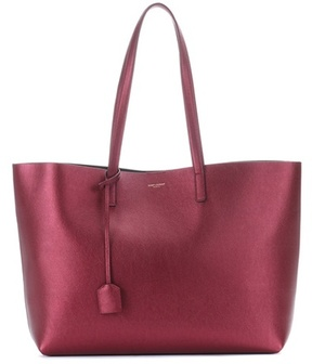Saint Laurent Leather shopper - RED - STYLE