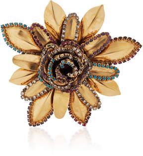 Erickson Beamon Vermeil Bouquet 24K Gold-Plated Crystal Brooch