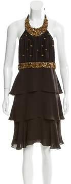 Andrew Gn Silk Embellished Dress