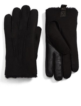 UGG Men's Smart Sheepskin Shearling Leather Gloves