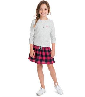Vineyard Vines Girls Carmel Buffalo Check Sweatshirt Dress