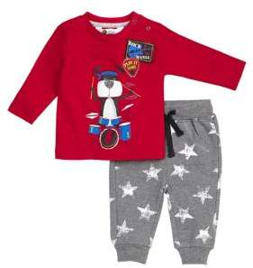 Petit Lem Baby's Two-Piece top & Pants Set