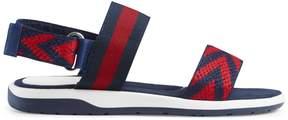 Gucci Children's Chevron leather sandal