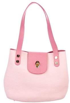 Eric Javits Leather-Trimmed Squishee Shoulder Bag