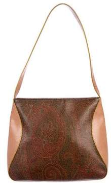 Etro Leather-Trimmed Shoulder Bag