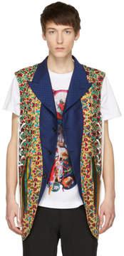 Comme des Garcons Reversible Multicolor Multi Fabric Lace-Up Vest