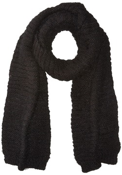 BCBGeneration Horizontal Rib Feather Long Skinny Scarf Scarves