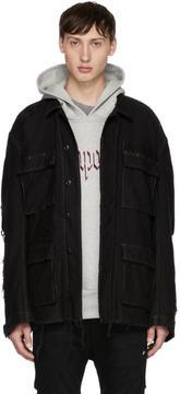 R 13 Black Shredded Abu Jacket
