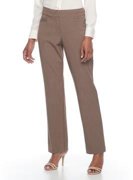 Dana Buchman Women's Curvy Straight Leg Dress Pants