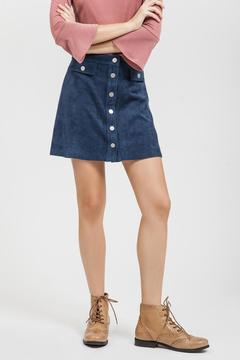 Blu Pepper Button Faux Skirt