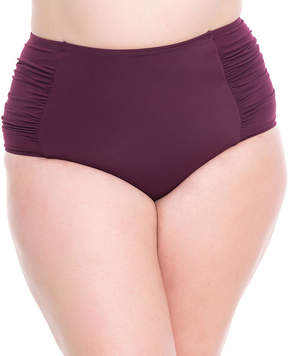Boutique + + High Waist Swimsuit Bottom-Plus