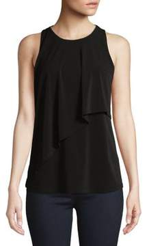 Ellen Tracy Sleeveless Overlay Top