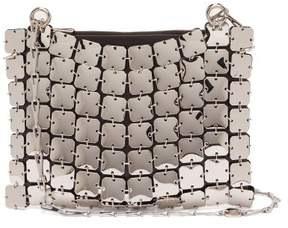 Paco Rabanne Chainmail Covered Leather Bag - Womens - Silver