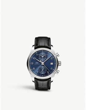 IWC IW390303 Portugieser Chronograph Classic stainless steel and leather chronograph watch