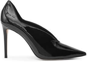 Reiss Jil Patent Patent-Leather Curve-Detail Shoes