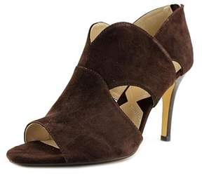 Adrienne Vittadini Gerlinda Open Toe Suede Sandals.