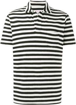 Orlebar Brown Navy Terry stripe polo shirt
