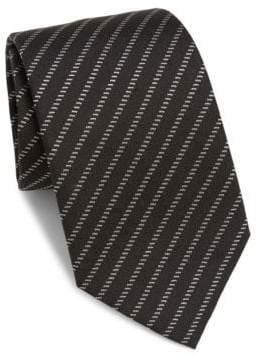 Armani Collezioni Broken Brick Silk Tie
