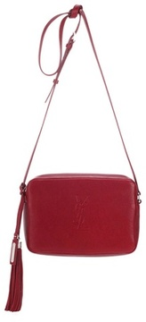 Saint Laurent Small Lou leather shoulder bag - RED - STYLE