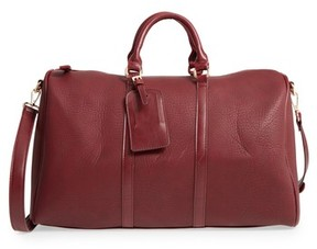 Sole Society 'Cassidy' Faux Leather Duffel Bag - Red