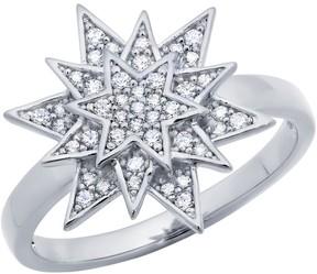 Crislu CZ Pave Starburst Ring