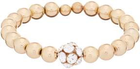Anna & Ava Gold Bead Stretch Coil Bracelet with Fireball Crystal