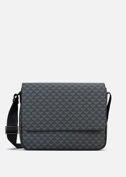 Emporio Armani all-over logo print pvc messenger bag
