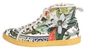 Dolce & Gabbana Girls' PVC Floral Sneakers