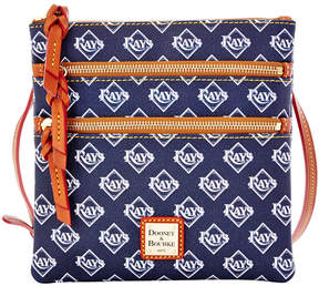 Dooney & Bourke Tampa Bay Rays Triple Zip Crossbody Bag - NAVY - STYLE