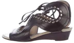 Proenza Schouler Grommet Wedge Sandals