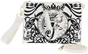 Versace EE1VRBBRB White Clutch/ Shoulder Bag W/ detachable strap