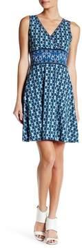 Max Studio Sleeveless Wrap Top Print Dress
