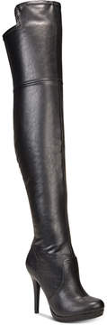 Thalia Sodi Blairre Wide-Calf Wide-Width Over-The-Knee Platform Boots, Created for Macy's Women's Shoes