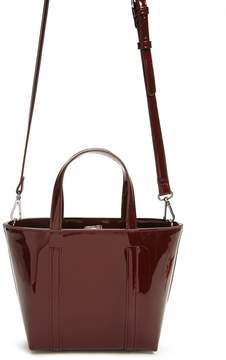 Forever 21 Mini Faux Patent Leather Tote Bag