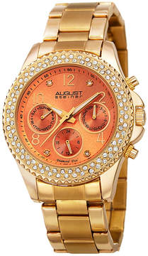 August Steiner Womens Gold Tone Strap Watch-As-8136ygor